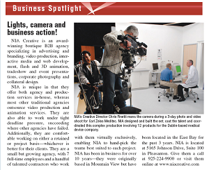 Lights, Camera and Business Action!